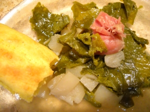 turnip greens and cornbread