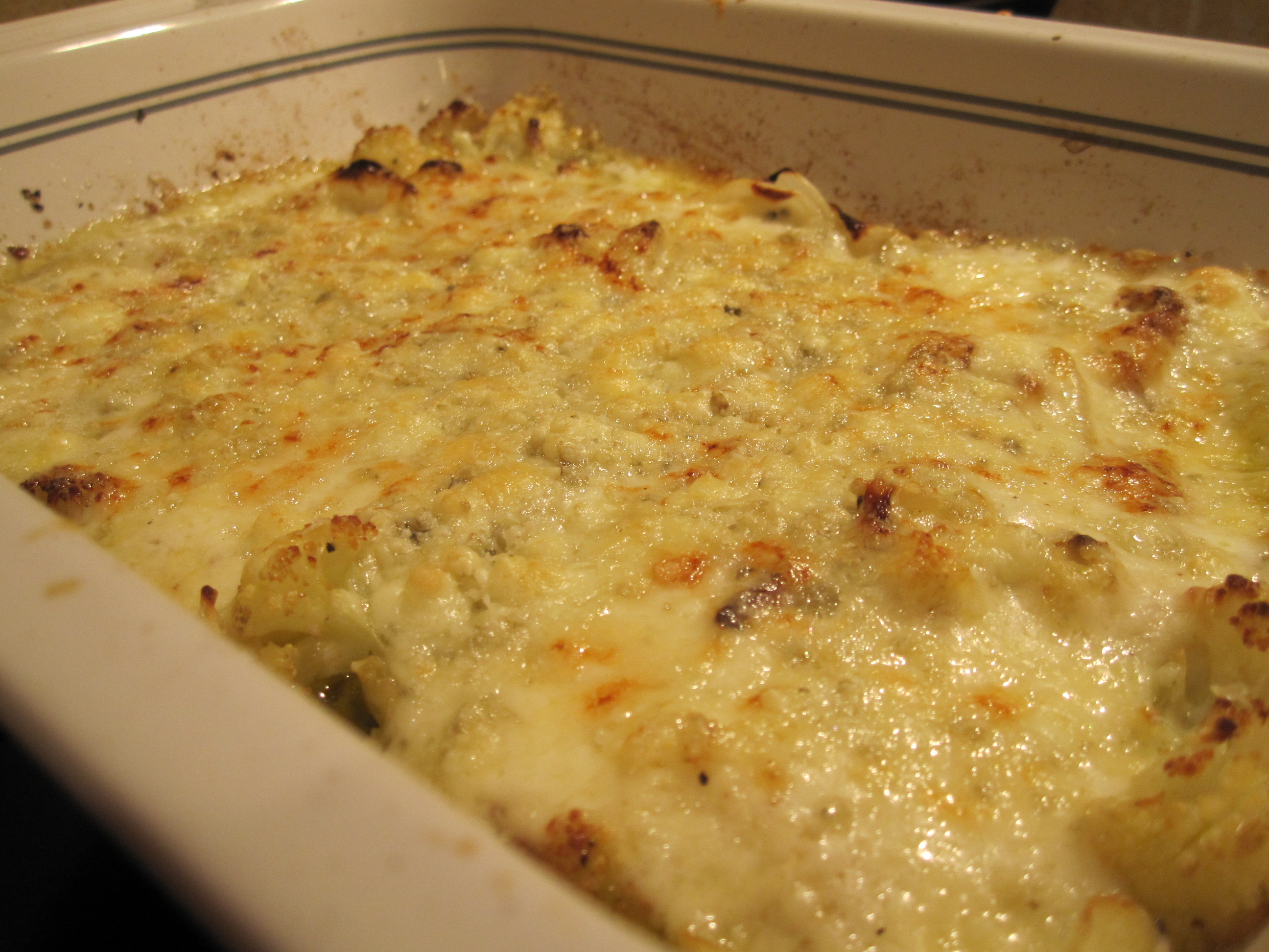 Cauliflower Onion Gratin | the south in my mouth